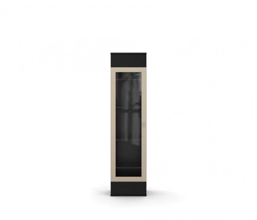 Vision стл.021.03 шкаф со стеклом 1 дверный (дуб кремона / д.